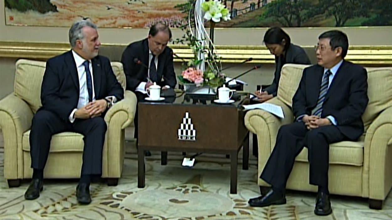 Le premeir ministre Philippe Couillard poursuit sa mission économique en Chine.