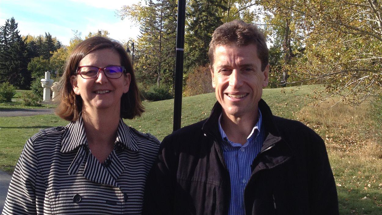 Véronique et Emmanuel Giry, un couple français résidant à Calgary