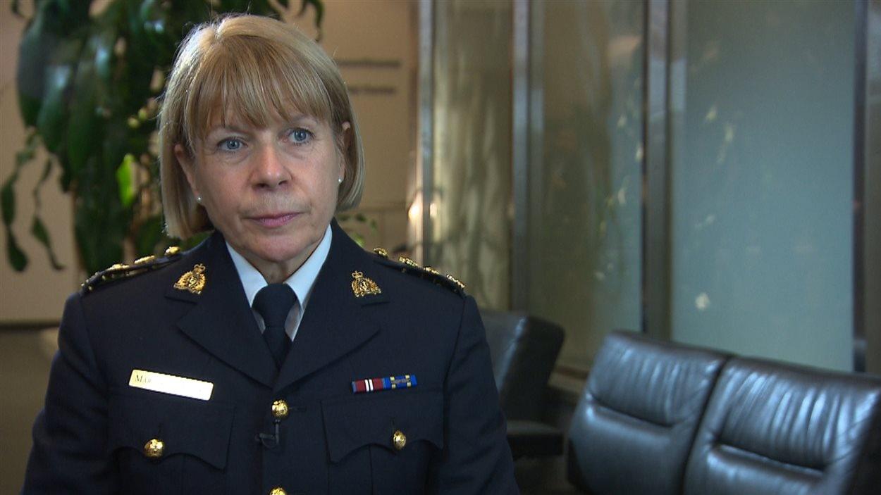 La surintendante Martine Fontaine de la GRC est responsable du volet de la sécurité nationale pour le Québec.