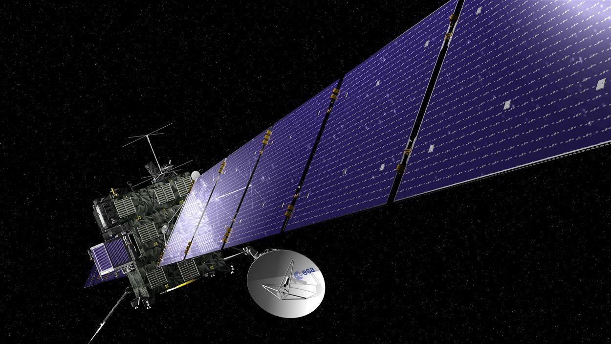 Représentation de la sonde Rosetta