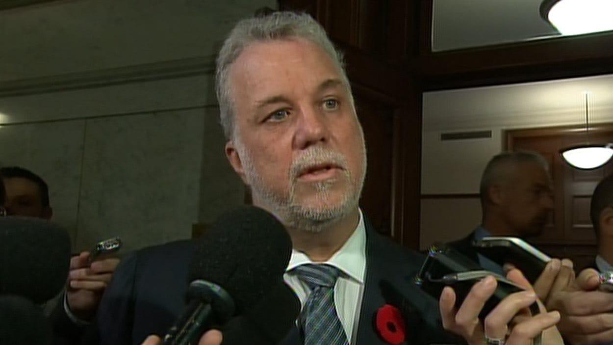 La premier ministre du Québec, Philippe Couillard
