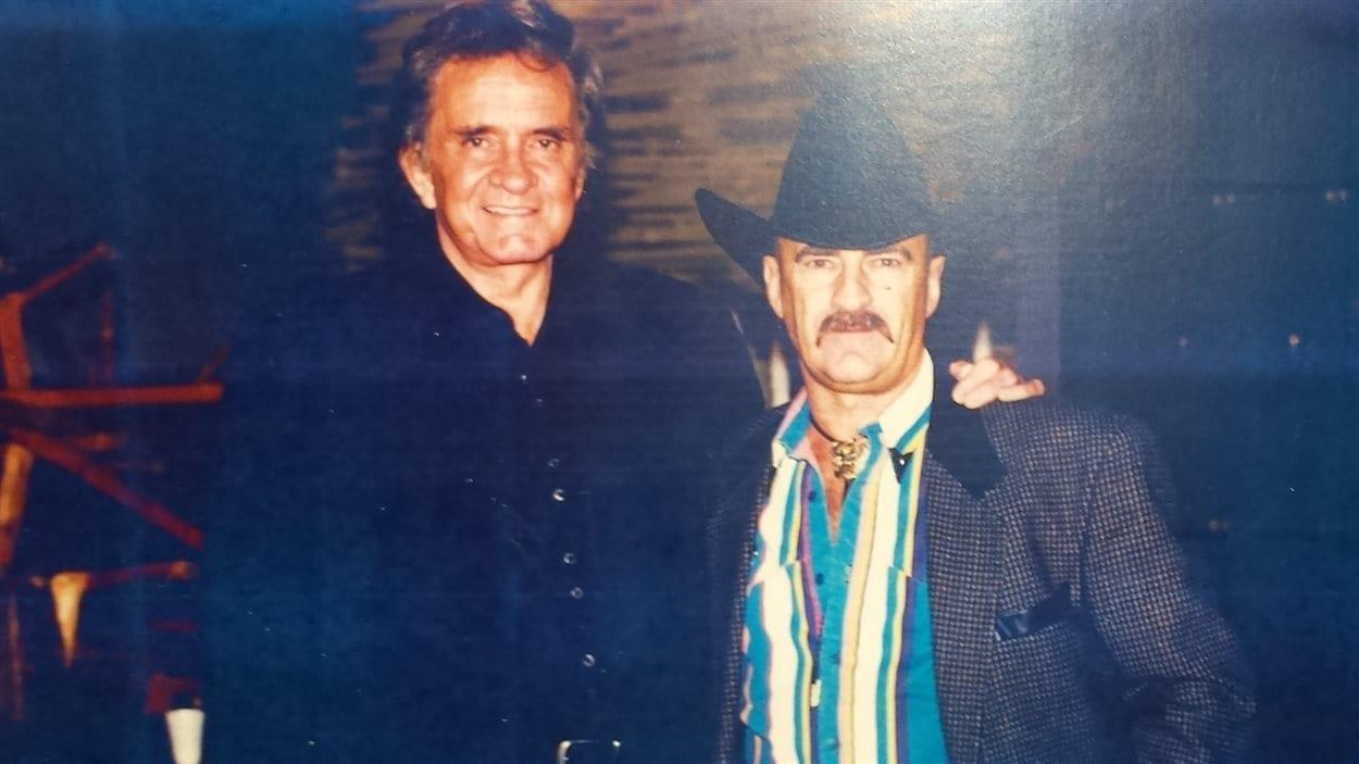 Johnny Cash et Laurent Sirard, 1992