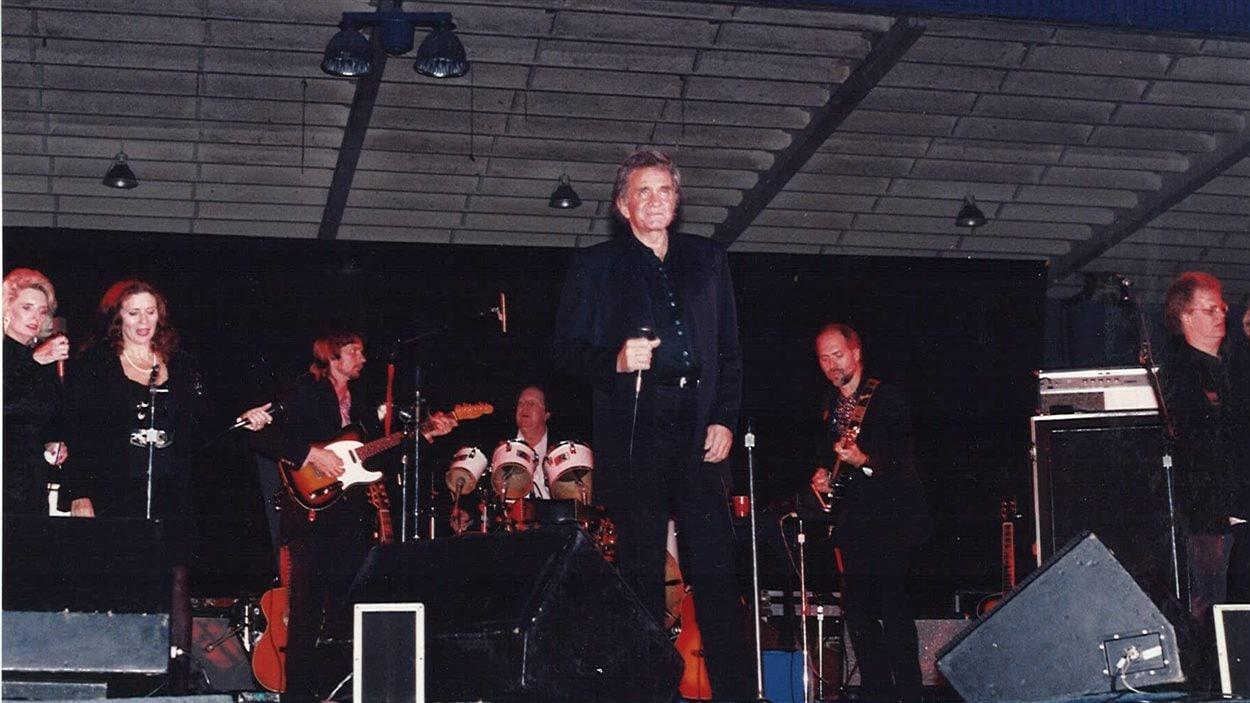 Johnny Cash en concert à Rouyn-Noranda, 11 novembre 1992