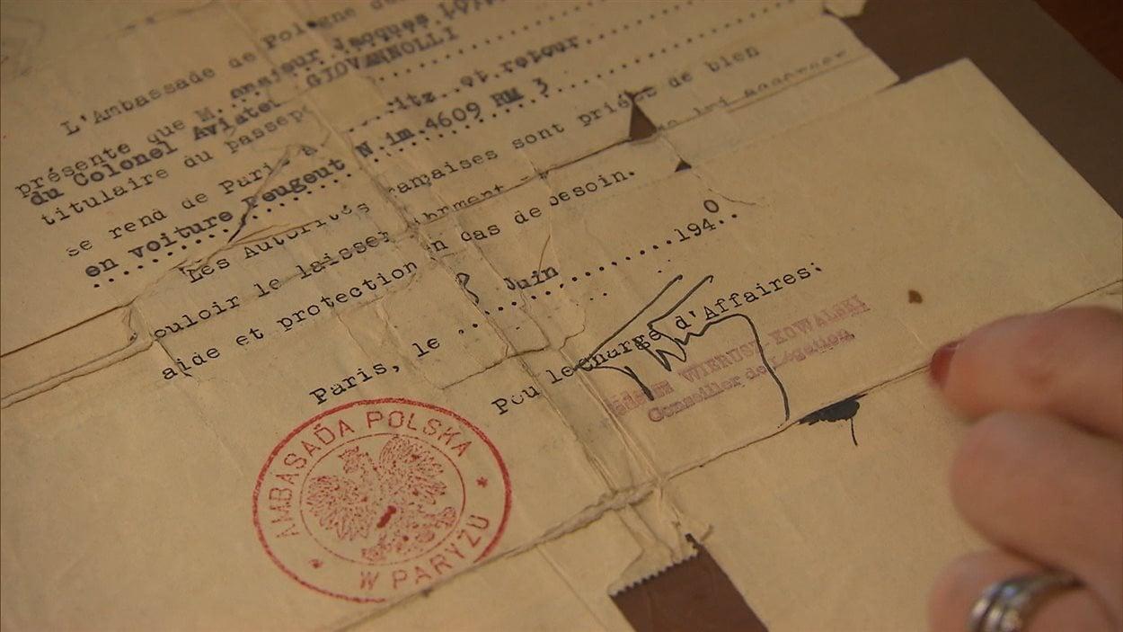 Le document retrouvé par André Lotey.