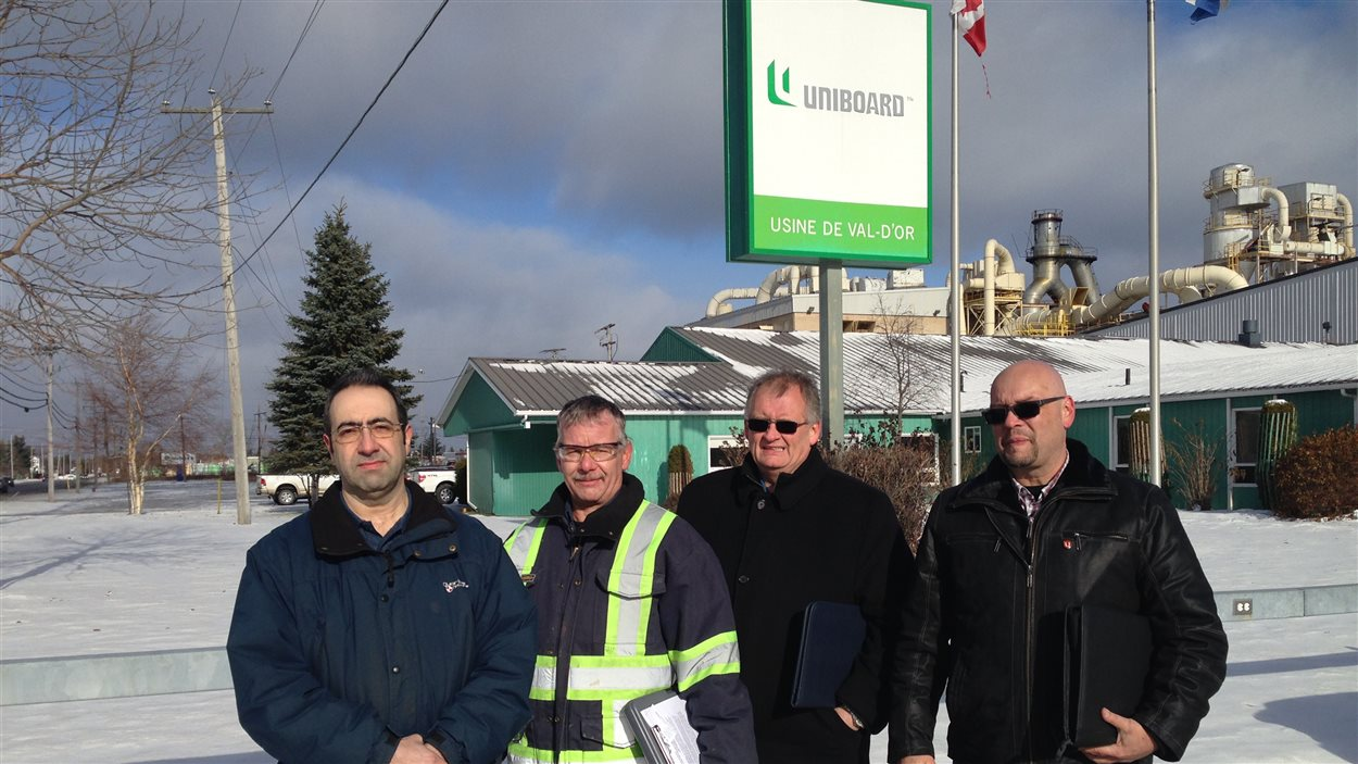 Les représentants syndicaux d'Uniboard
