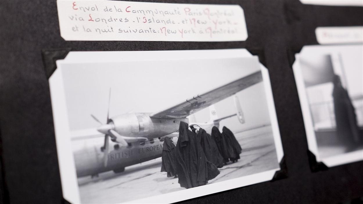 Pendant le voyage qui mènera les Carmélites à Dolbeau-Mistassini, en 1957.