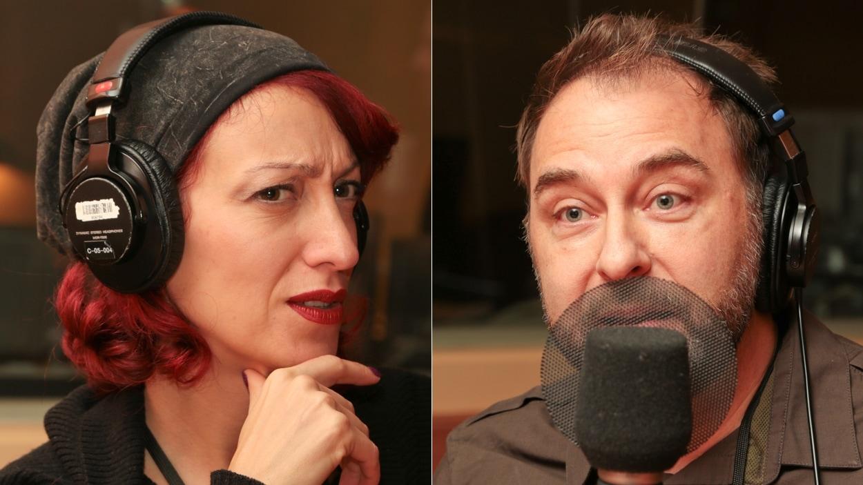 Les coiffeurs Kathy Simon et Luc Vincent