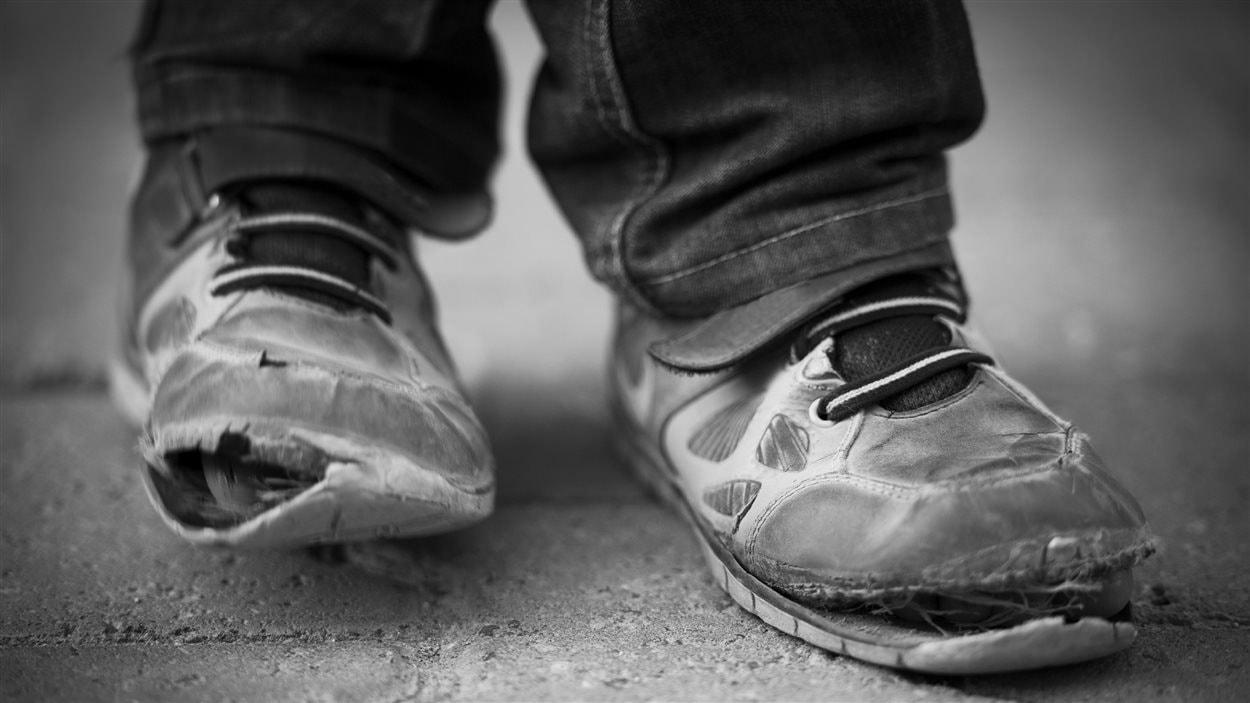 Chaussures déchirées