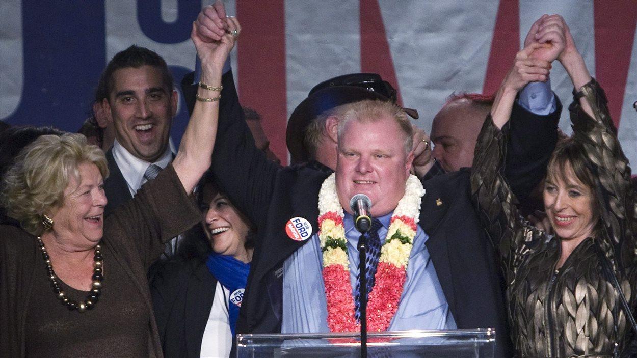 Rob Ford lors de son élection comme maire en 2010