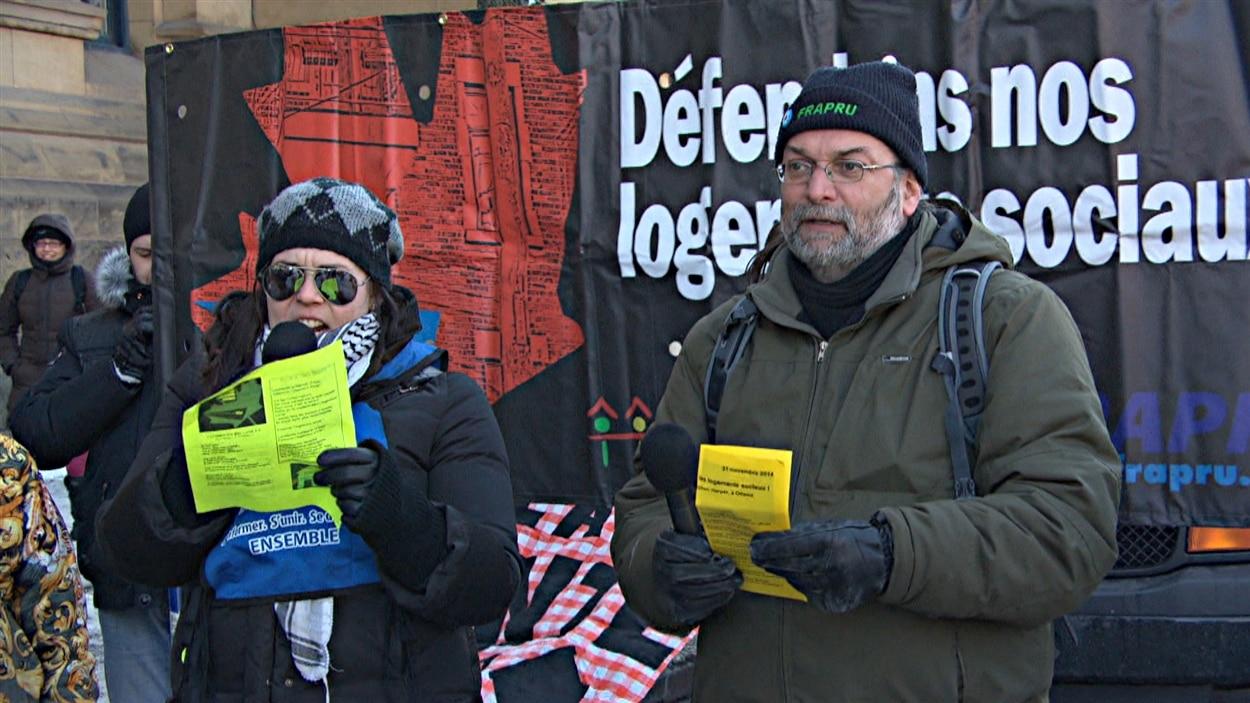 Le FRAPRU exige plus de financement pour le logement social d'Ottawa et de Québec.
