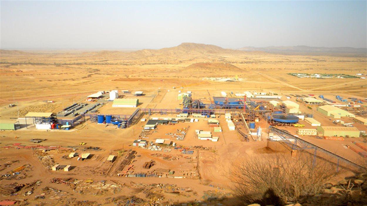 La mine Bisha en Érythrée.