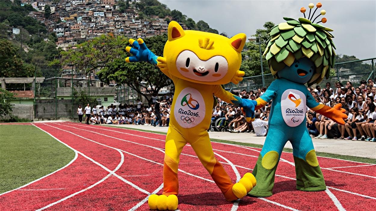 Les mascottes des Jeux de Rio en 2016