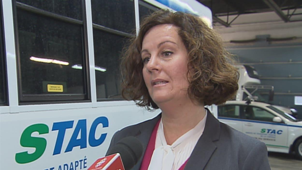 Marie-France Trudel, conseillère municipale et présidente du Service de transport adapté de la capitale