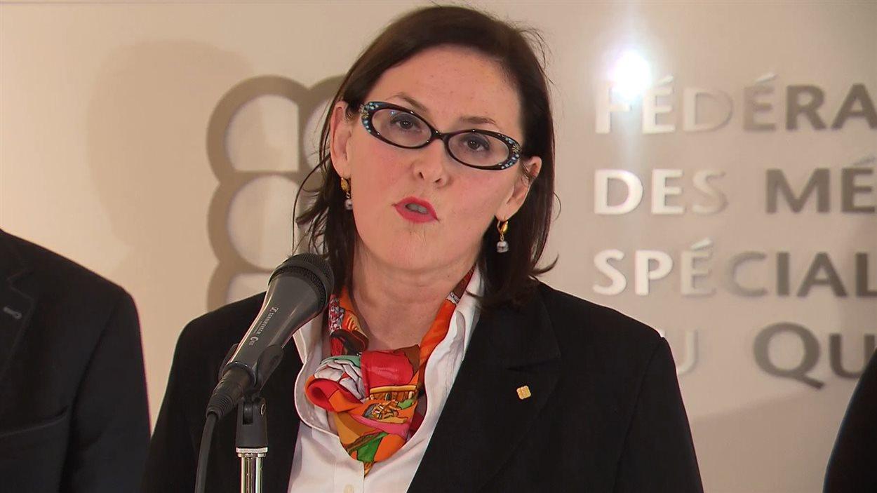 Diane Francœur, présidente de la Fédération des médecins spécialistes du Québec
