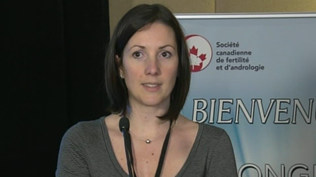 Viginie Kieffer, présidente de l'Association québécoise des couples infertiles