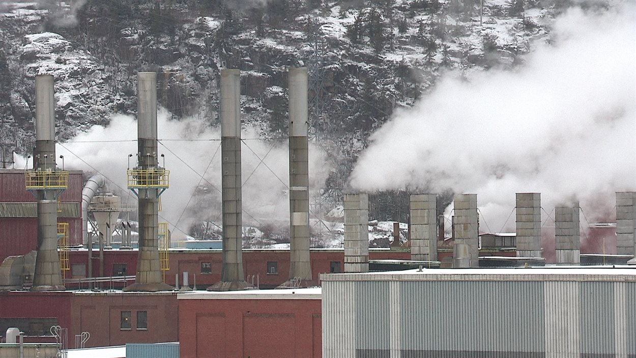 L'usine de Produits Forestiers Résolu, à Baie-Comeau.
