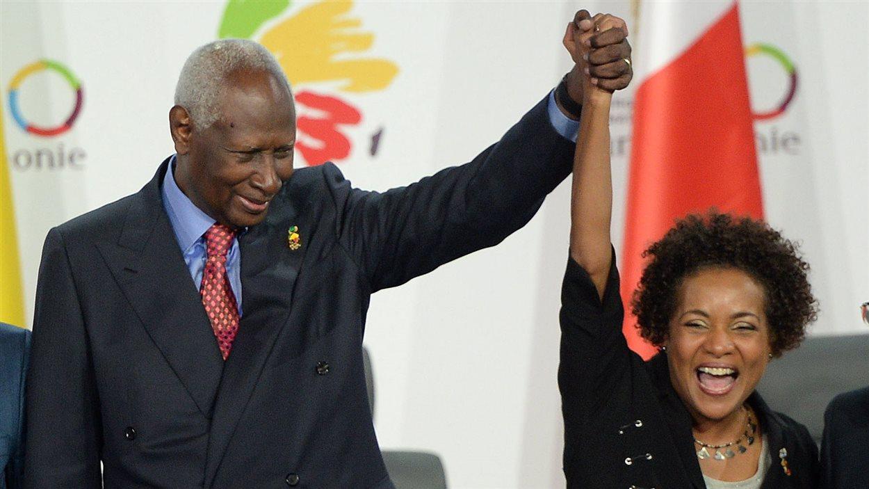Abdou Diouf et Michaëlle Jean