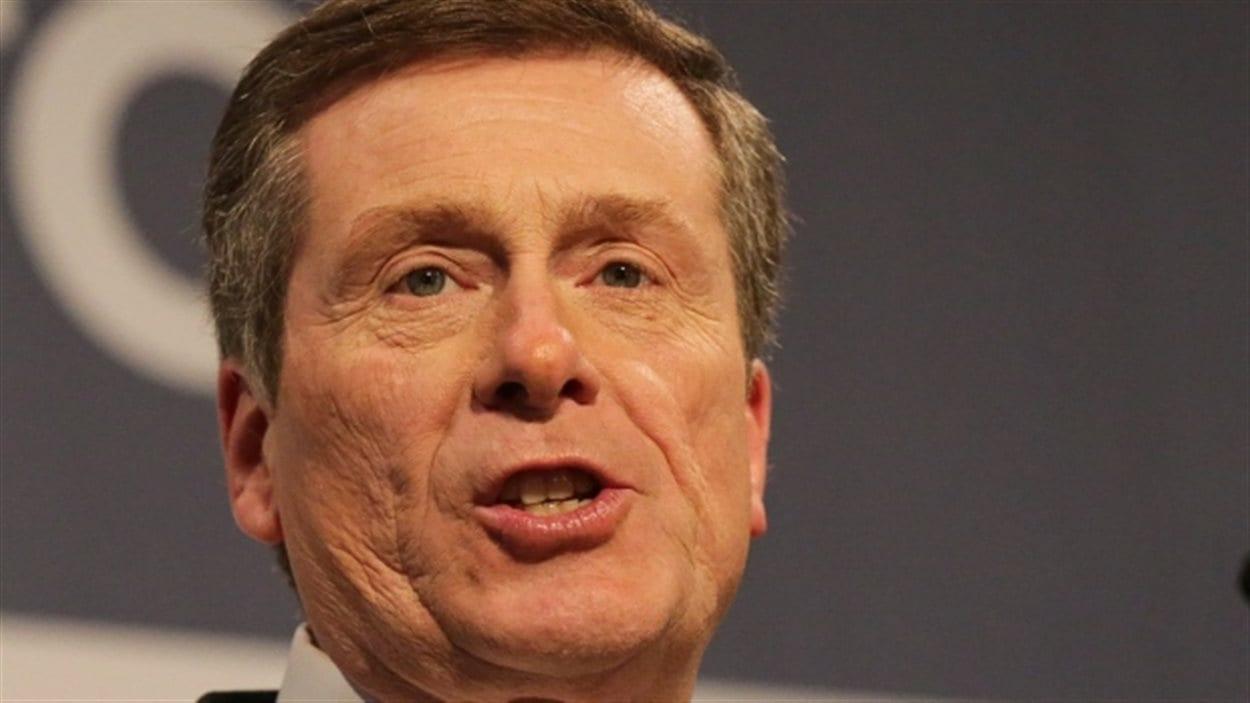 Le nouveau maire de Toronto, John Tory