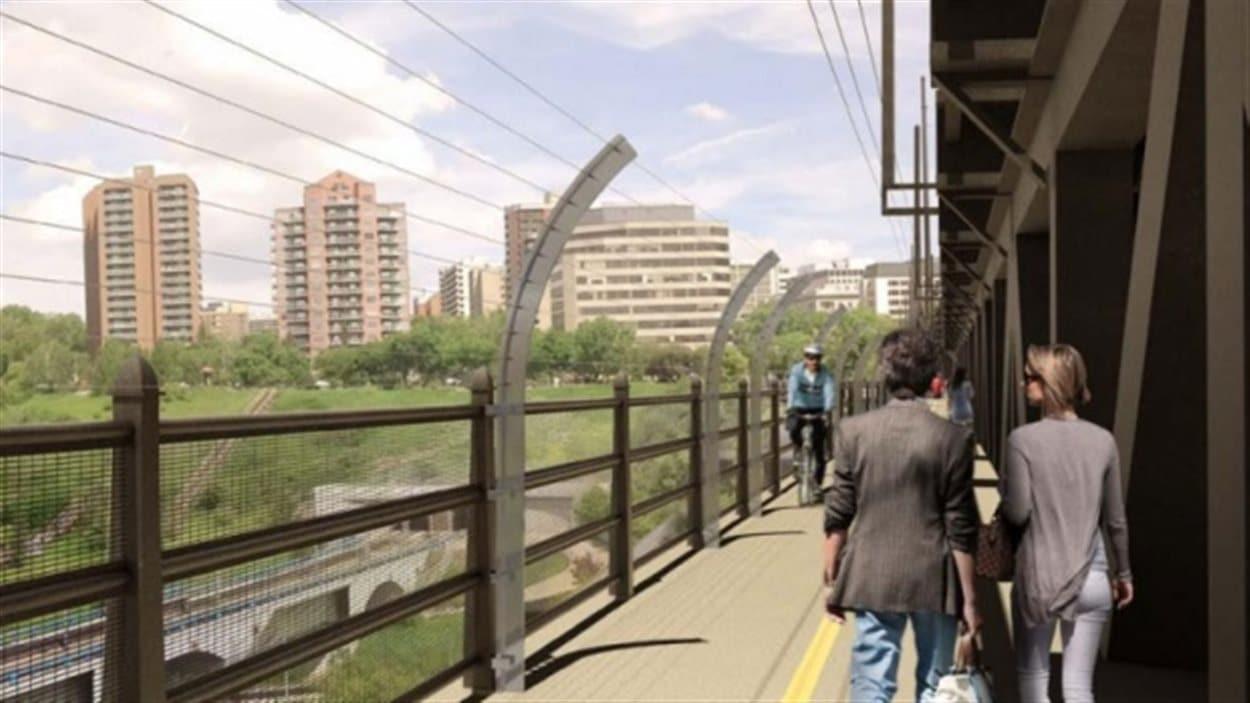 Les barrières de prévention sur le pont High Level seront constituées de câbles métalliques.