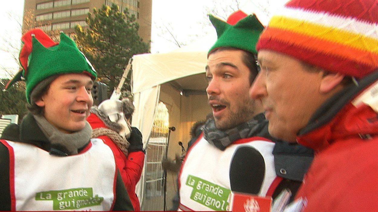 Les comédiens Joey Scarpellino et Louis-Philippe Beauchamp.