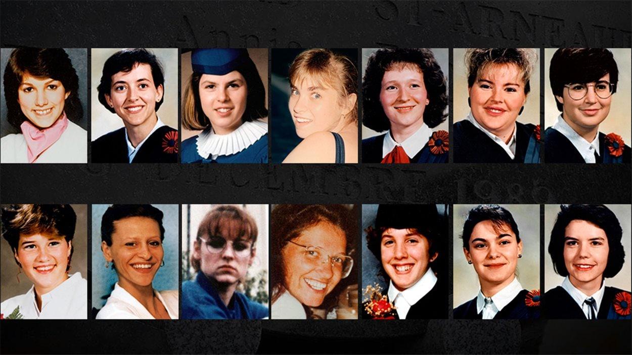 Les 14 femmes abattues par Marc Lépine le 6 décembre 1989, à l'école Polytechnique de Montréal.