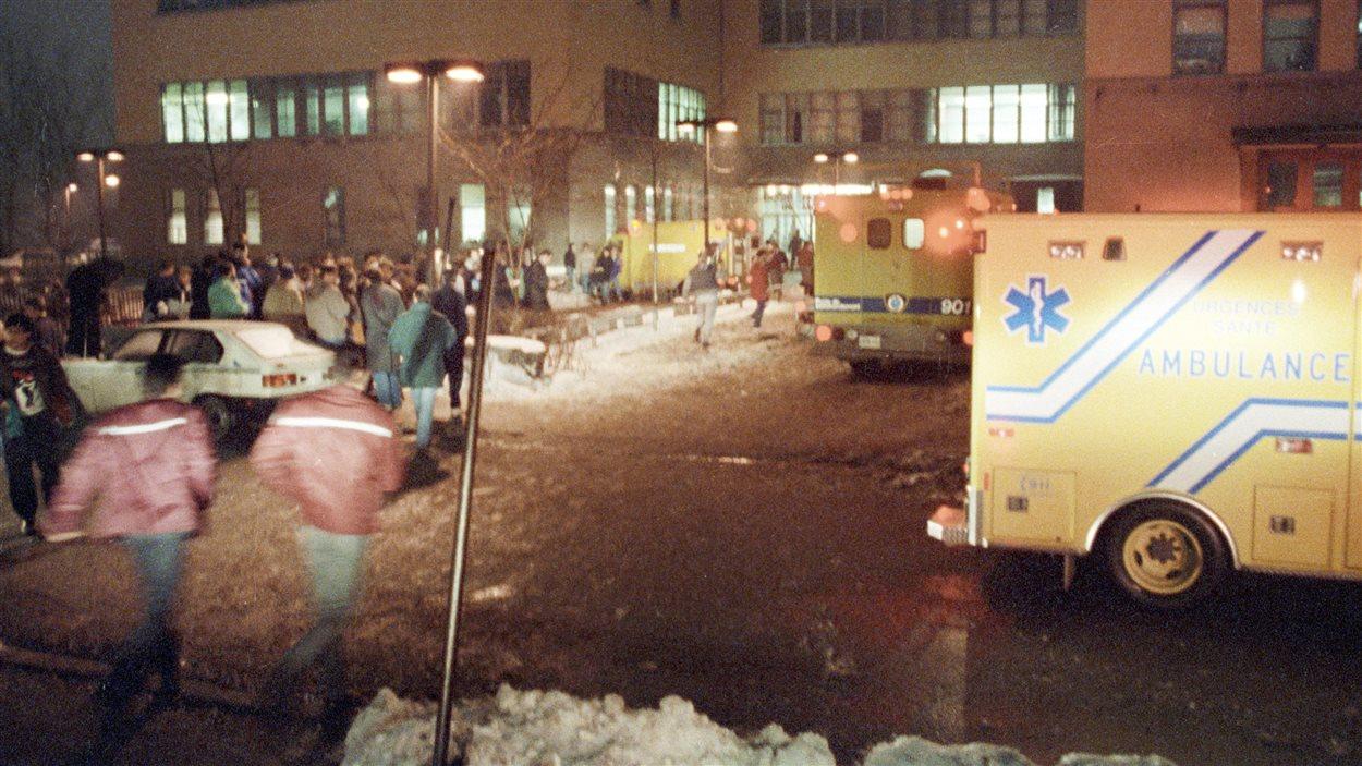 L'École polytechnique de Montréal le 6 décembre 1989