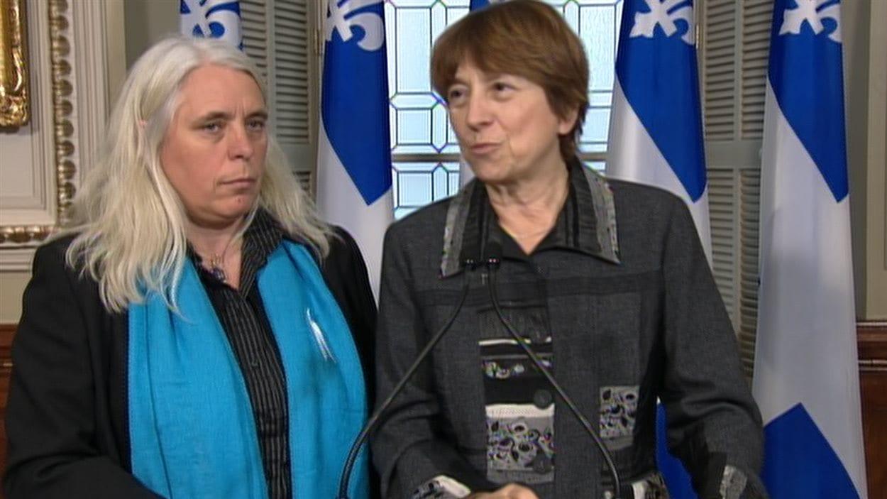 Les députées Manon Massé et Françoise David