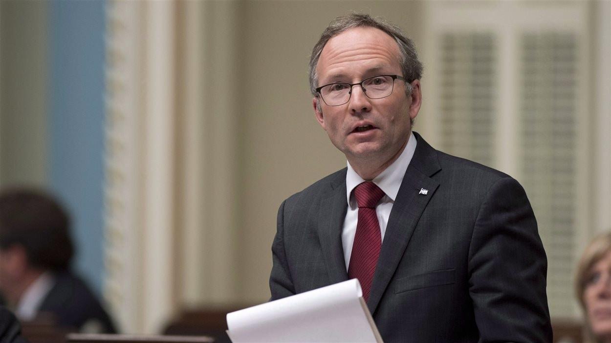 Le président du Conseil du Trésor du Québec, Martin Coiteux