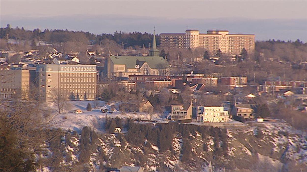La ville de Lévis en hiver