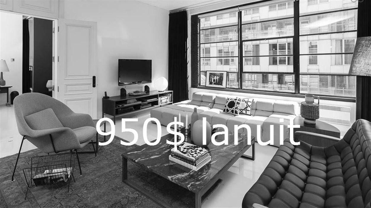 Une annonce sur Airbnb