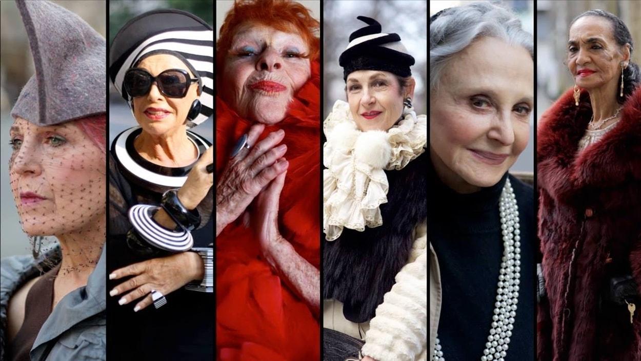 Quelques protagonistes du documentaire <i>Advanced style</i>, de Lina Plioplyte