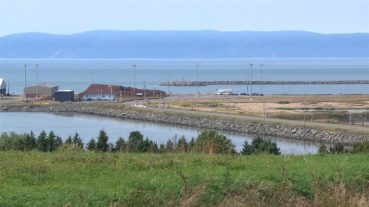 Le site de l'éventuel port pétrolier de Gros-Cacouna.