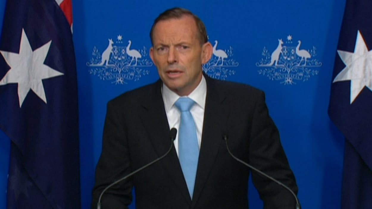 Le premier ministre australien, Tony Abbott, réagit aux événements à Sydney.