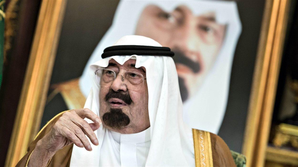 Le roi d'Arabie saoudite, Abdallah ben Abdelaziz Al-Saoud