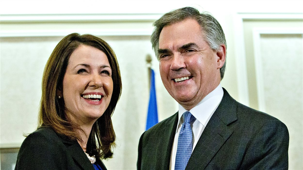 Danielle Smith et Jim Prentice