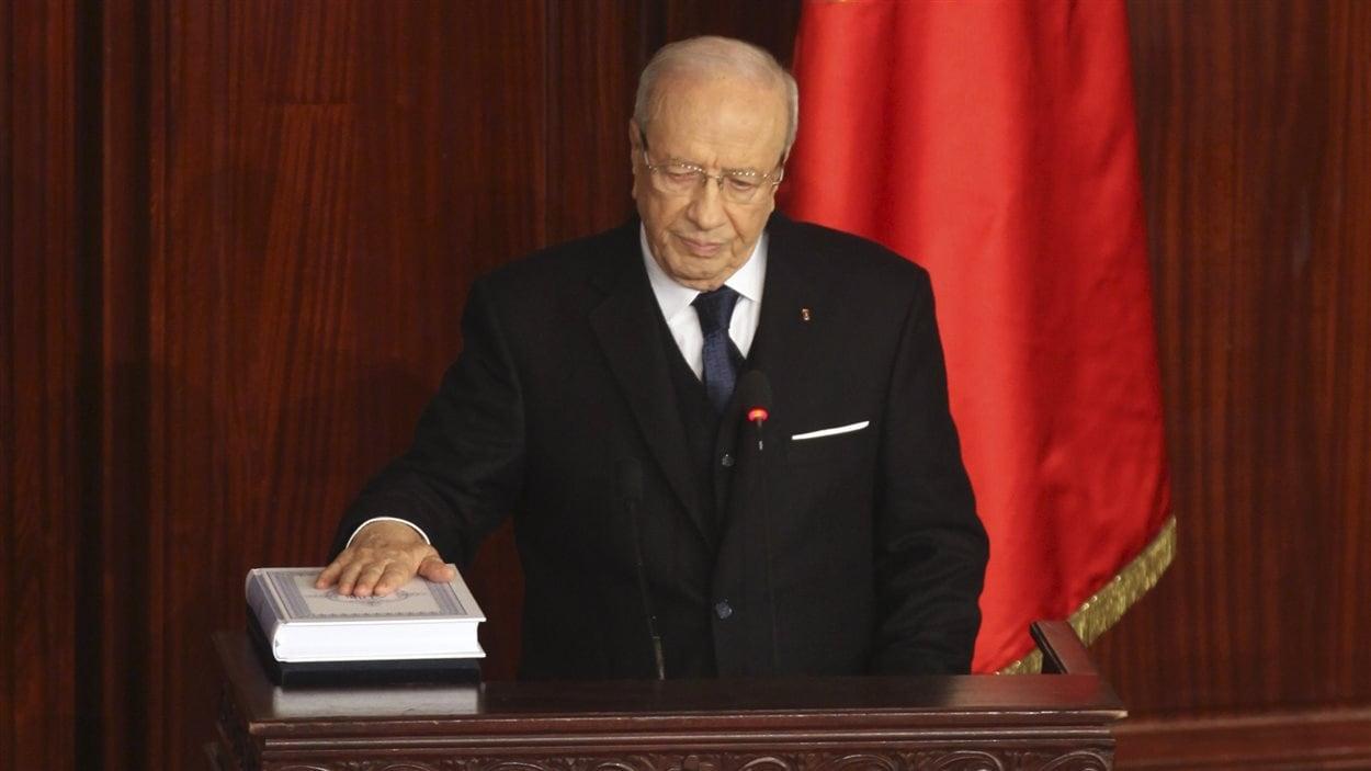 Prestation de serment du président tunisien Béji Caïd Essebsi