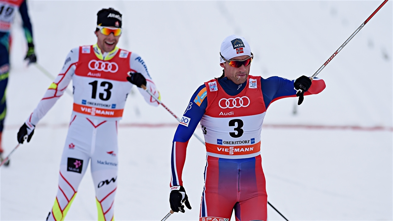 Alex Harvey (no 13) au Tour de ski 2015