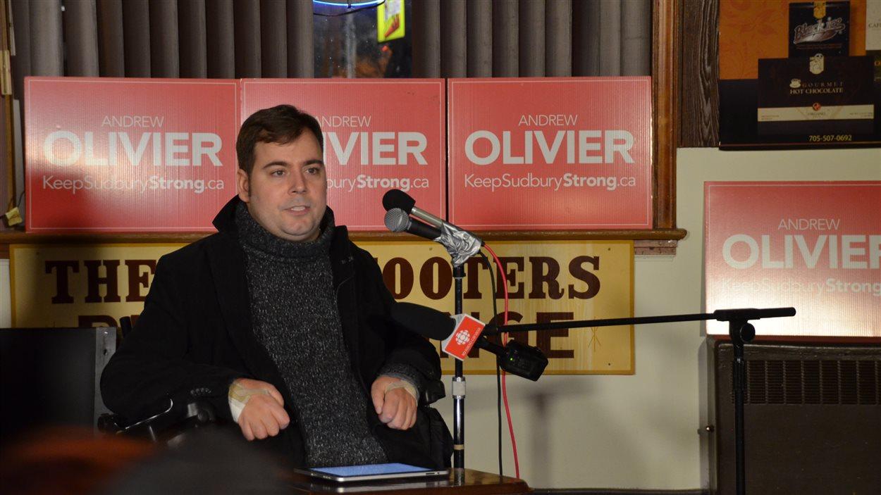 Le candidat indépendant Andrew Olivier