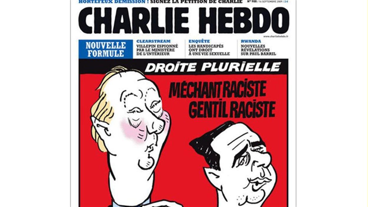 Exemple d'une première page de Charlie Hebdo