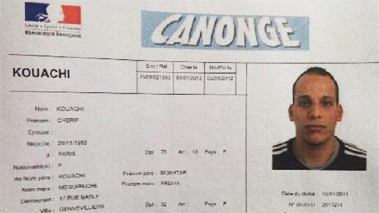 Un document au nom de Chérif Kouachi