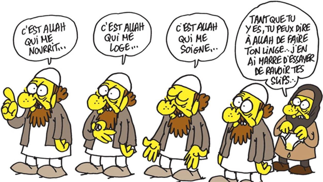 Une caricature de Charb