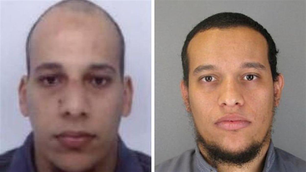 Photo des deux suspects, les frères Chérif et Said Kouachi
