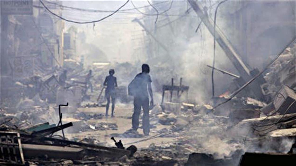 Scène de désolation dans un quartier de Port-au-Prince en 2010 (archives)