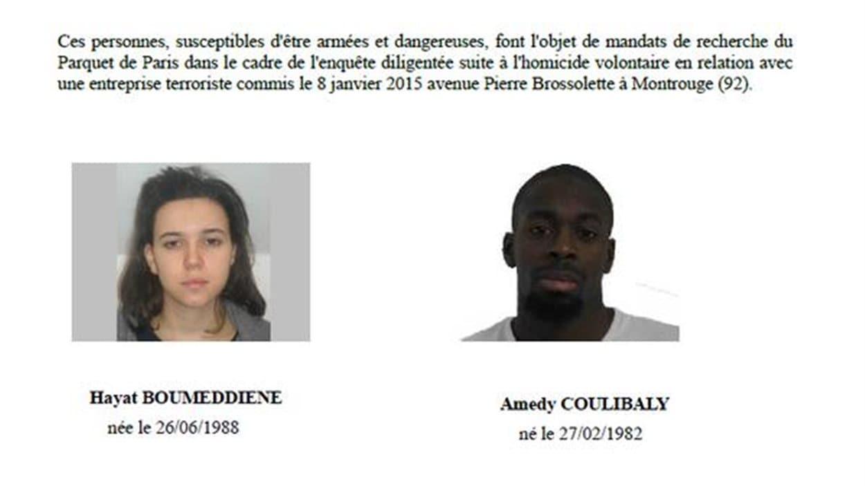 La préfecture de police de Paris a lancé un appel à témoins pour retrouver un homme et une femme qui seraient liés à la fusillade de Montrouge
