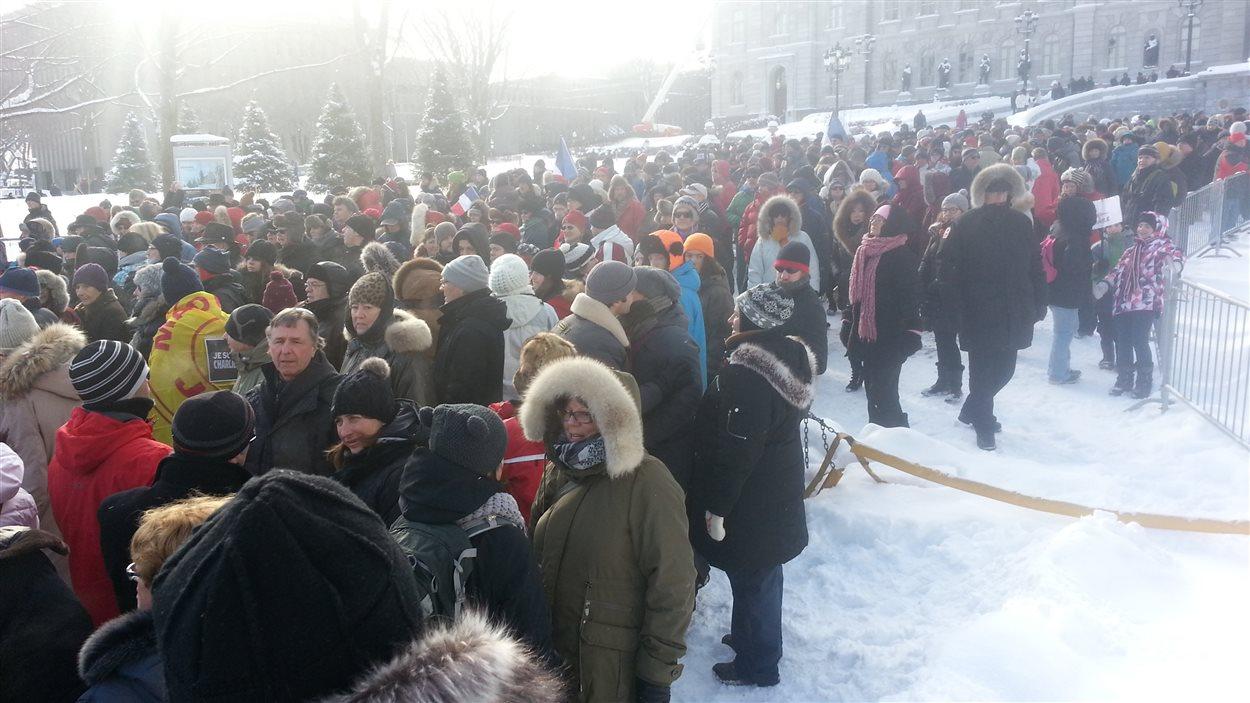 L'événement rassemble des centaines de personnes à Québec.