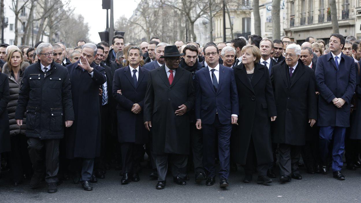 Une cinquantaine de chefs d'État ont pris part à la marche
