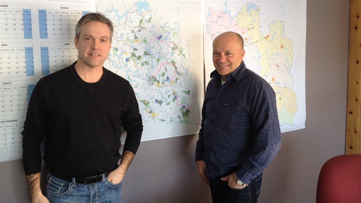Martin Pelletier et Daniel Bourgault