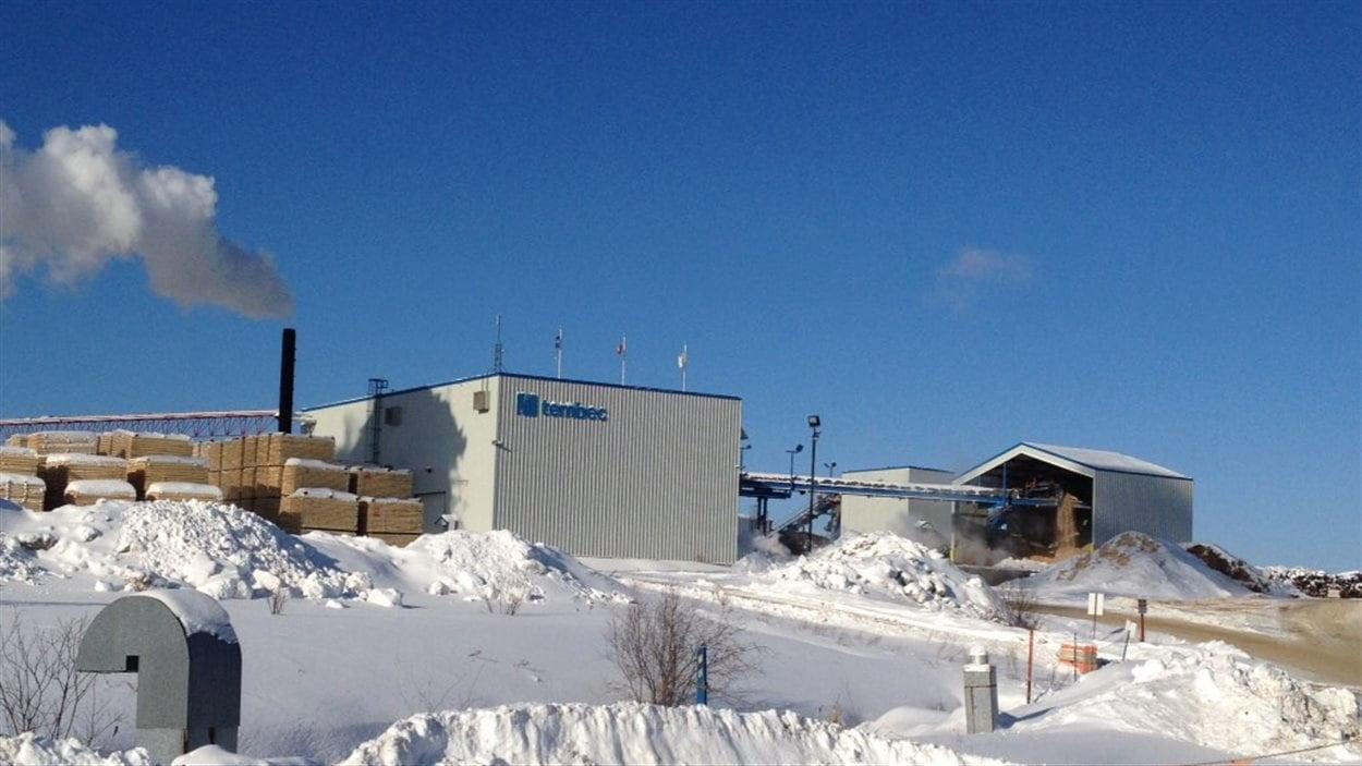 L'usine Tembec de Béarn