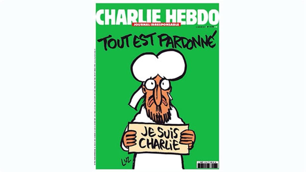 La une de l'édition du 14 janvier de Charlie Hebdo