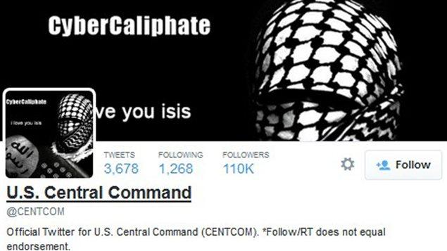 Le compte Twitter du U.S. Central Command a été piraté.